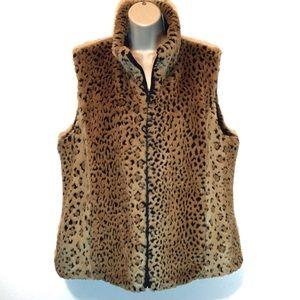Kristen Blake Reversible Leopard Faux Fur Vest